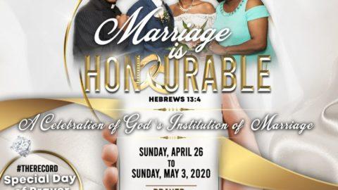 Marriage is Honourable